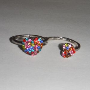 Jewelry - Double Heart Fashion Ring